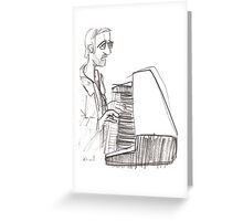 Keyboard player Greeting Card