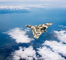 Vulcan over South Wales by Gary Eason + Flight Artworks