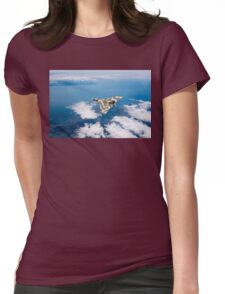 Vulcan over South Wales Womens Fitted T-Shirt