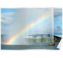 Captain Cook Fountain Rainbow Poster