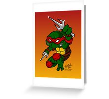 Raphael Teenage Mutant Ninja Turtle Greeting Card
