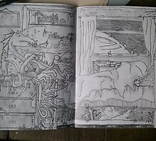Sketchbook Project - It's just a nightmare by MuscularTeeth