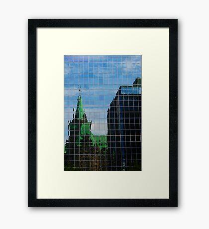 Capital Reflections Framed Print