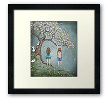 falling blossoms Framed Print