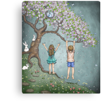 falling blossoms Canvas Print