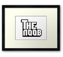 Funny NOOB Godfather Design Framed Print