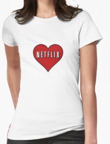 Netflix heart Womens Fitted T-Shirt