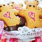Pink Heart Gingerbread Men by ieatstars