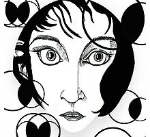 Kate Bush Pattern Design Print by Grant Wilson