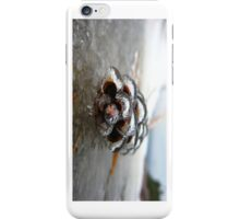 Iced Over Pine Cone - iCase iPhone Case/Skin