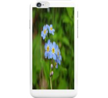 Little Blue Wildflowers - iCase iPhone Case/Skin