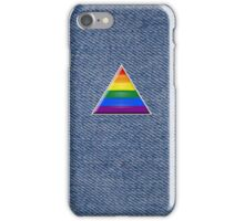 Pride Triangle on Denim iPhone Case/Skin