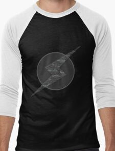 The Galaxy is at Peace (Black and White) Men's Baseball ¾ T-Shirt