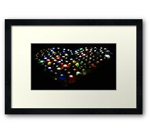 Marble Love Heart Framed Print