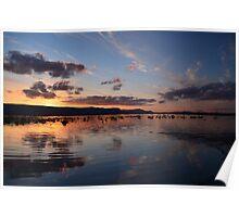 Lake Fyans at Sunset Poster