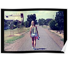Walking on The Road Poster