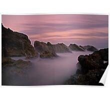 Canyon of the Sea Mist Poster