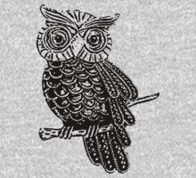 Cute Owl On Tree One Piece - Long Sleeve