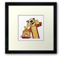 calvin and hobbes yucks Framed Print