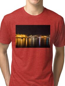 Reflecting on Malta - Cruising Out of Valletta's Grand Harbour Tri-blend T-Shirt