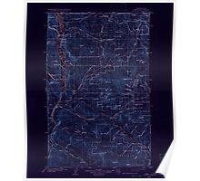 USGS Topo Map Washington State WA Osoyoos 243021 1904 125000 Inverted Poster