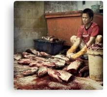The Fish Cutter #0101 Canvas Print