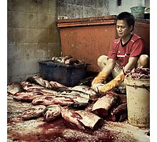 The Fish Cutter #0101 Photographic Print