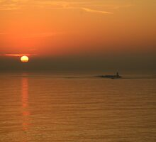 Sunrise off Roscoff, Brittany, France by jonshort58