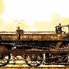 A Crampton Steam Locomotive 1846 by Dennis Melling