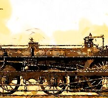A Crampton Steam Locomotive 1846 by Dennis Melling
