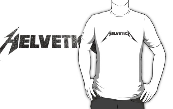 Helvetica Rocks - Black by RetroLogos