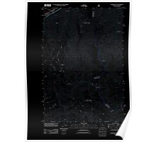 USGS Topo Map Oregon OR Tanner Butte 20110809 TM Inverted Poster
