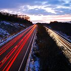 Winter Light Trails by jonshort58