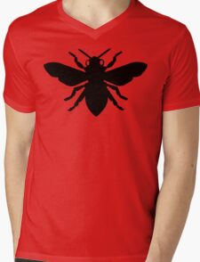 Bee Silhouette Mens V-Neck T-Shirt