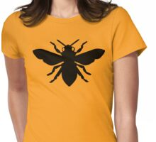 Bee Silhouette Womens Fitted T-Shirt