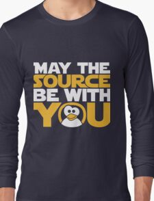 May The Source Be With You - Tux Edition Long Sleeve T-Shirt