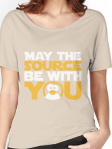 May The Source Be With You - Tux Edition Women's Relaxed Fit T-Shirt