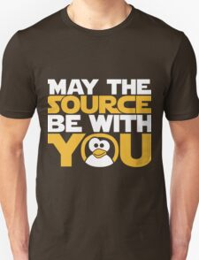 May The Source Be With You - Tux Edition Unisex T-Shirt