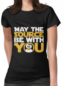 May The Source Be With You - Tux Edition Womens Fitted T-Shirt