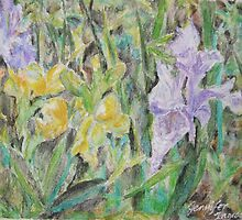 Blooming Irises by Jennifer Ingram