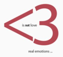 Use real emotions (<3 is not love) by António Cascalheira