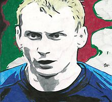 Tony Hibbert Everton Comic Book Image by chrisjh2210