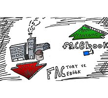 FACtory vs FACebook binary options cartoon Photographic Print