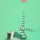 The Pink Balloon I by Stephen Mitchell