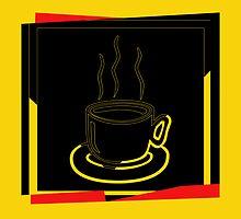 Coffee Cup - I love coffee (Tea) by Nhan Ngo