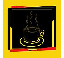 Coffee Cup - I love coffee (Tea) Photographic Print