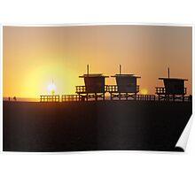 Baywatch sunset Poster