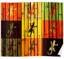 Colorful geckos Poster
