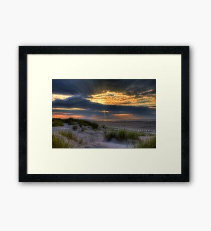 Ainsdale Sunset  Framed Print