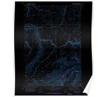 USGS Topo Map Washington State WA Alpowa Ridge 239799 1971 24000 Inverted Poster